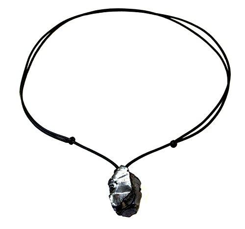 Keled Rocks エリート シュンガイト ペンダント クリスタル 調節可能なネックレス付き 14~28インチ