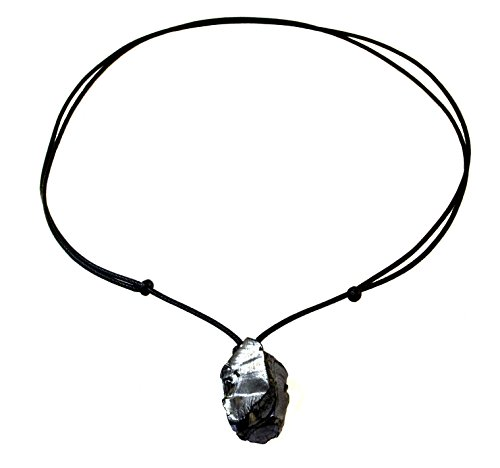 Keled Rocks Colgante Elite Shungite de cristal con collar ajustable de 35,5 a 71,1 cm