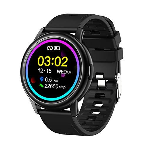 ZGLXZ Smart Watch S27 Adulto Deportes Al Aire Libre Podómetro Y Temporizador Impermeable A Prueba De Agua Y Sudor Reloj Inteligente Ritmo Cardíaco Presión Arterial para Android iOS,B