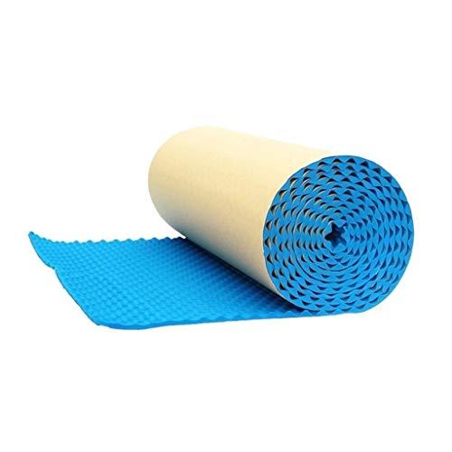 Z-XIYIN Selbstklebende Akustikplatten mit hohen Dichte schallabsorbierende Baumwolle Innenwand Tür-Fenster-Schallwand 1 Quadratmeter (Color : Blue)