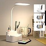 Lampada Scrivania, lampada da scrivania a led con porta di ricarica USB, portapenne & 3 Mo...