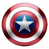 JYZ Captain America Metal Shield, Metal Completo 1: 1 Versión de película de Avengers Holding Props Modelo, Decoración de Modelo a Unos 48 cm