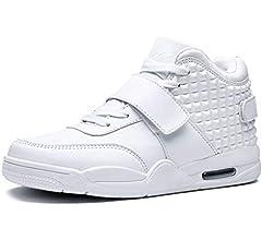 Los Hombres de Baloncesto Zapatos de Alta Superior amortiguación atlética Zapatillas de Deporte Botas de los Hombres Entrenadores Deportivos: Amazon.es: Zapatos y complementos