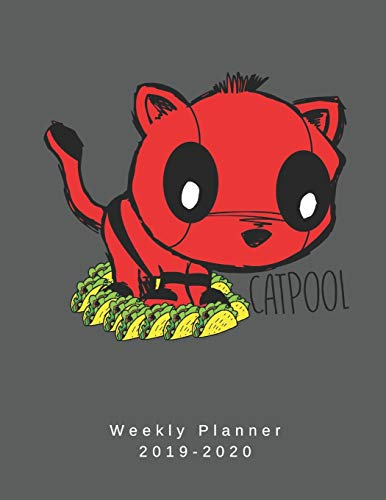 Cat Pool Weekly Planner 2019-2020: 8.5