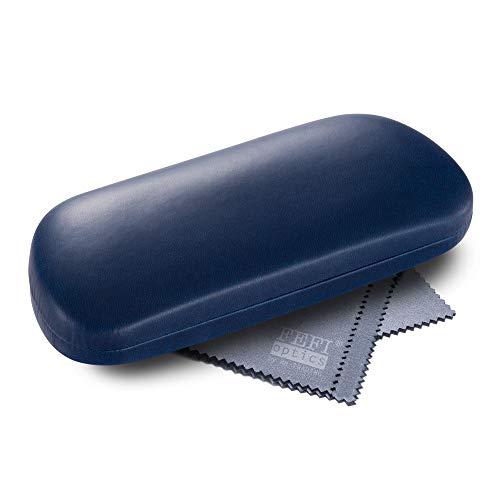 FEFI Hardcase Brillenetui Softtouch color, seidenmatt (Dunkelblau)