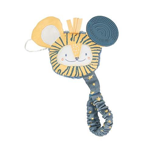 Cheeky Chompers Handychew - Beißspielzeug für Babys - Liebenswerte Zahnungshilfe mit Rassel und sensorischen Extras zur 100% sicheren Stimulation, zum Beruhigen und Kuscheln (Bertie the Lion)