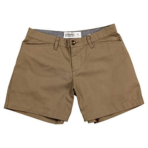 Urban Boundaries Women's Flat Front Chino Shorts (Black, 5