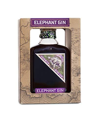 Elephant Gin Sloe (35 % Vol) in Geschenkpackung– preisgekrönter Schlehenlikör auf Gin Basis, traditionell mit handverlesenen Schlehen. Beerig fruchtig mit prägnantem Schlehengeschmack (1x 0,5 L)