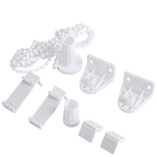 Yosoo 17mm Rollo Beschläge Roller Schirm Befestigung Kupplung Ersatz Reparatur Kit Perlenkette Roller Blind Vorhang Befestigungsklammern Set Fensterbehandlungen (2 Stück)