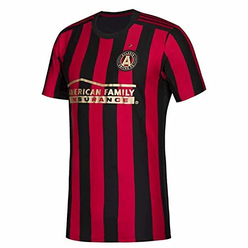TEZAI 20-21Season Hombres para Hombre Camisetas para Deportes de Adultos Atlanta Home Court, Away Juego, Camisetas Partidarios Jersey Football Regalo Red-M