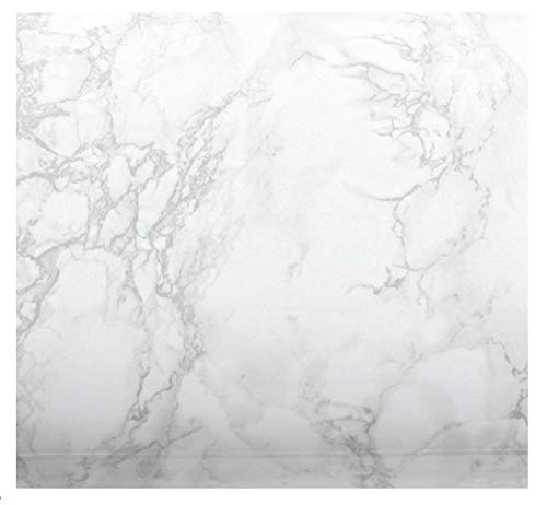 EZ FAUX DECOR Marble Self Adhesive Granite Gray/White Roll Kitchen Instant Update. Easy to Remove Thick Waterproof PVC Vinyl Laminate Film. Why Paint? (36