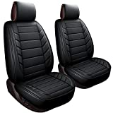 2 Front Driver Seat Covers Fit Most Sedan SUV Truck Fit for 4runner Tacoma Rav4 Corolla Camry Prius Sienna Tl Tsx 4 Runner (2 PCS Front, Black)