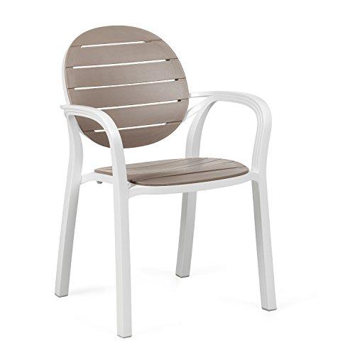 Nardi ND/173palma sedia–bianco/tortora
