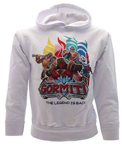 Sabor srl Sweatshirt mit Kapuze Gormiti Original La Legende est de Retour Gr. 7-8 Jahre, weiß