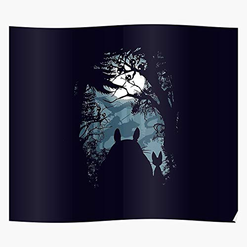 LAKO Haku Retro Fun Ghibli Cats Collection Kikik Moon Mononoke Castle Howls Anime Spirits Forest Gtsc Trees Cat Moving Fanfreak Simple Best for Home Decor Fine Wall Art Print Poster