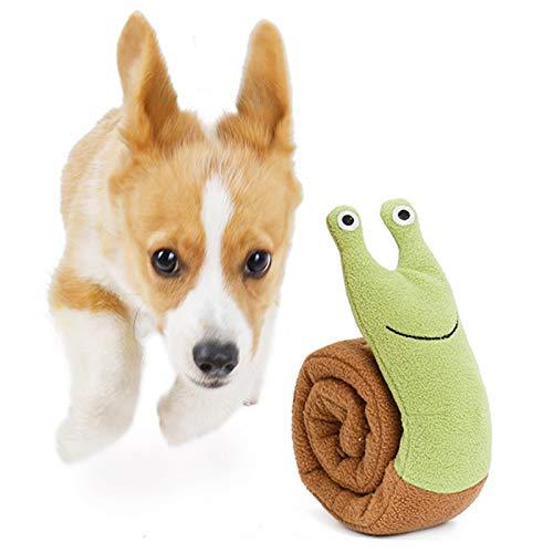 Ruilonghai Quietschendes Spielzeug Hund - Schnecken Plüschtier Hund - Hundespielzeug Welpe - Schnüffelteppich Hunde - Interaktive Spielzeug zum Training- Kauspielzeug für Kleine & Mittel Hunde