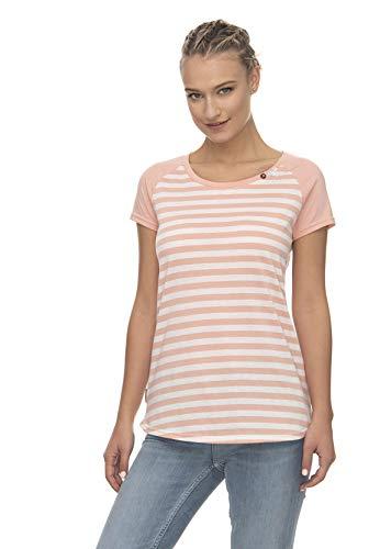 Ragwear T-Shirt Damen T-Shirt MAZIK Organic 2011-10057 Mehrfarbig Peach 4049, Größe:S