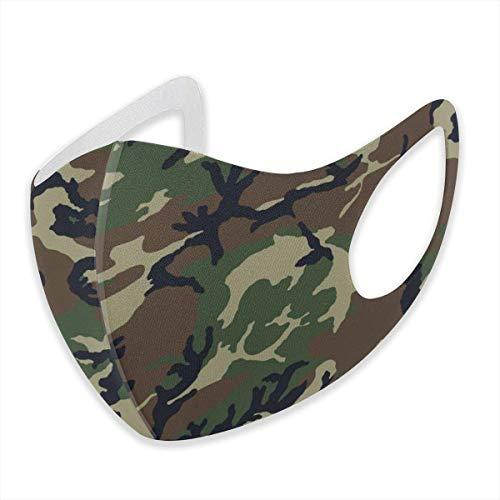 Unisex Gesichtsabdeckung, verstellbar, Anti-Staub-Mundschutz, waschbar, wiederverwendbar, für Radfahren, Camping, Reisen, Armee Camouflage 3D-Druck