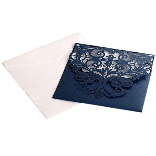 D.ragon 10 Stücke Einladungskarten Kits,Hochzeit EinladungsKarten Glückwunsch Einladung Karten mit leeren Karten und Umschlägen für Hochzeitsgrüße Einladung zur Geburtstagsfeier, Like-Minded