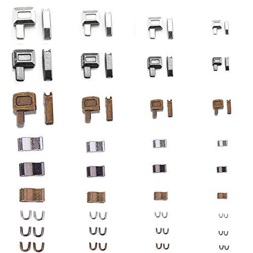 U&X Reißverschluss Zipper Schieber, 4 Style Abnehmbar und frei kombinierbar ersatz Zipper für reißverschluss zum Kleidung und Taschen