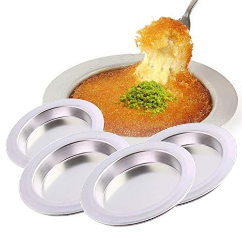 Künefe Teller aus Aluminium ca.18cm mit Greifzange Original Knafah Dessert Teller Tabagi Tabak Künefeteller Ø ca.18cm (2)