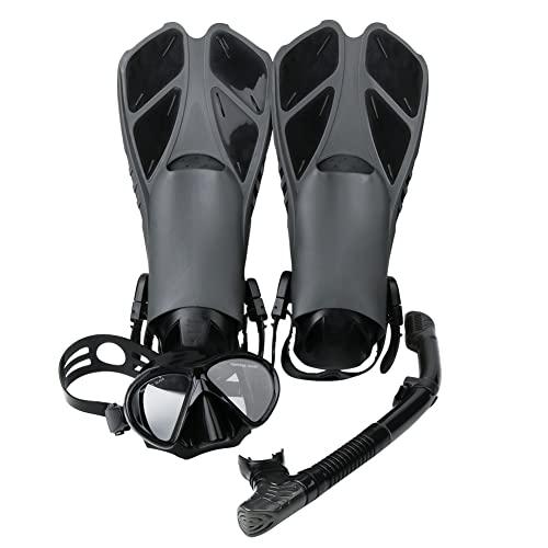 Esnórquel settauch Set, Snorkel Set,Gafas de Buceo,Funda Aletas, Gafas de Buceo Buceo Swim Mask Snorkel Aletas Snorkel para Adultos y Jóvenes