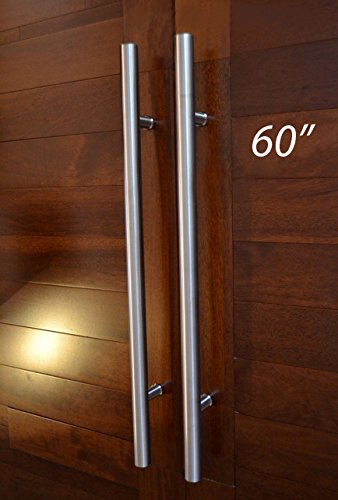 Pull Push 60 Inches Handles For Entrance Entry Front Door Interior And Exterior Satin Finish Storefront Door Commercial Entry Gate And Office Door Modern And Decent Design Round Style Buy Online