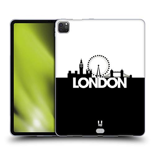 Head Case Designs London Black And White Skyline S3 Soft Gel Case Compatible for Apple iPad Pro 12.9 (2020)