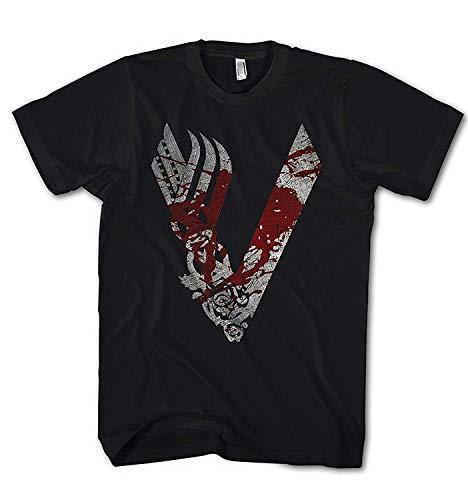 Camiseta Hombre Vikingos King Ragnar Lodbrok Valhalla Ivar Odin