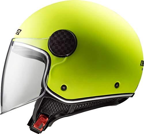 LS2 Casco de moto OF558 SPHERE LUX MATT HI VIS Amarillo, Amarillo, XL