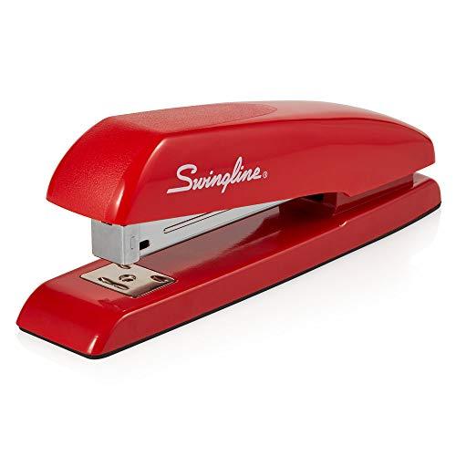 Swingline Stapler, Milton's Red Stapler from Office Space Movie, 646 Desktop Stapler Heavy Duty, 20 Sheet Capacity, For Office Decor, Desk Accessories & Home Office Supplies (64698)
