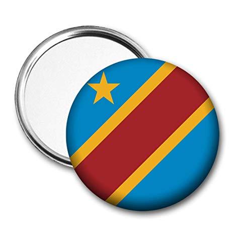Democratische Republiek Congo Vlag Pocket Spiegel voor Handtas - Handtas - Cadeau - Verjaardag - Kerstmis - Stocking Filler - Secret Santa