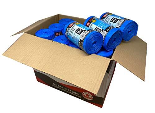 Bolsa de basura azul línea Platinum. Tamaño XXL 85x105 cms. 240 sacos de basura extraresistentes y antidesgarro. 10 uds por rollo. Caja 24 rollos.