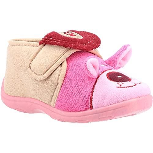 Mirak Bungle Touch Fastening Bootie Slipper Pink Size UK 10.5 EU 29
