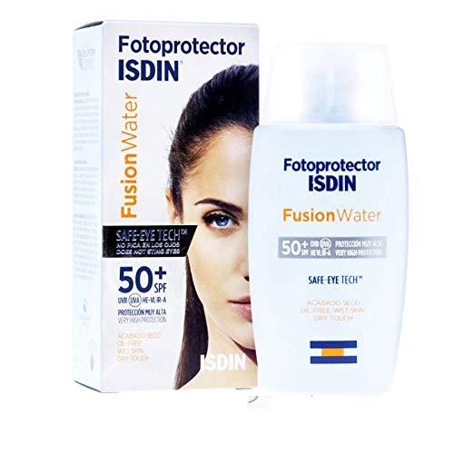 FOTOPROTECTOR ISDIN FUSION WATER SPF 50+ SAFE - EYE TECH NO PICA LOS OJOS ACTO PARA PIEL ATOPICA 50ML