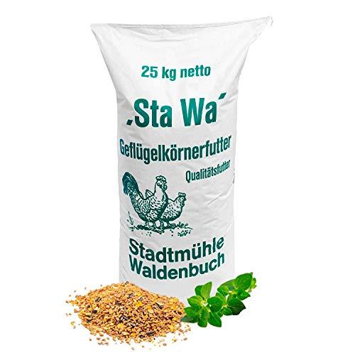 StaWa Hühnerfutter Geflügelkörnerfutter Körnerfutter | ohne Gentechnik | mit Oregano Öl, 25 kg