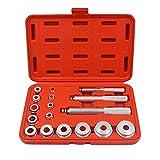 RJJX 17 unids/Set Rueda de Rueda Race Sello Sello de Bush Driver Master Tool Kits Eje de Aluminio Instalación Eliminar Herramienta (Color : Red)