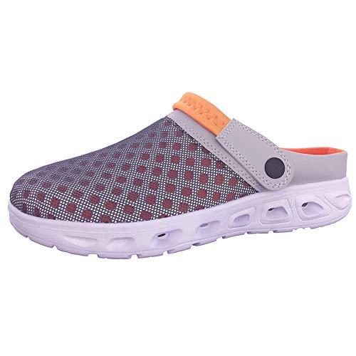 Unisex Clogs Hausschuhe Muffin Unten Alltägliche Drag Pantolette Sommer Beach Schuhe Sandalen für Damen Herren,E,43