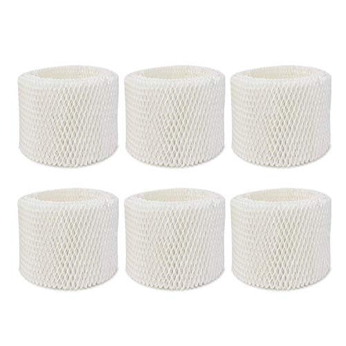 Extolife 6 Pack Replacement Humidifier Filter for Vicks & Kaz WF2 Humidifier Filters V3100, V3500, V3500N, V3600, V3700, V3800, V3850, V3850JUV, V3900, V3900JUV, VEV320, 3020, ECM-250i, ECM-500, WA-8D
