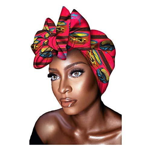 Kente Ankara African Print Soft Headwraps Headband Long Hair Head Wrap Scarf Turban Tie Jersey Knit African head wraps (Ankara Print #5)