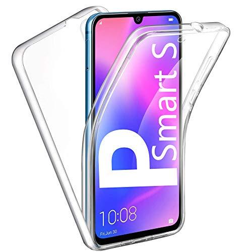 HUANGTAOLI Cover per Huawei P Smart S, Custodia 360 Gradi Protezione Trasparente Ultra Sottile in Silicone TPU Anteriore e PC Indietro