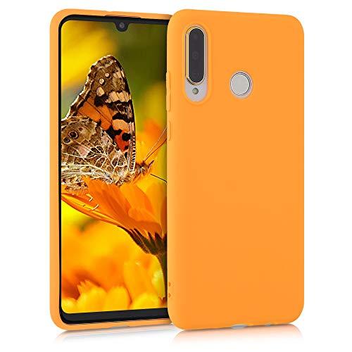kwmobile Custodia Compatibile con Huawei P30 Lite - Cover in Silicone TPU - Back Case per Smartphone - Protezione Gommata Giallo Zafferano