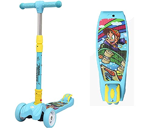 R for Rabbit Road Runner Kick Scooter for Kids of Above 3 Years, Skating Scooter for Boys Girls of Upto 75Kgs (Blue)
