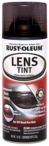 Rust-Oleum 253256 Specialty Lens Tint Spray Paint, 10 Oz Aerosol, 8-10 Sq-Ft/Can, Translucent, 10-Ounce, Black