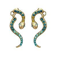 [Minfengc] 動物のイヤリング レディース ファッションイヤリング 対応 女性 ヘビ エレガント シック アクセサリー