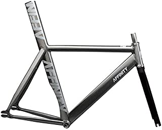 Affinity Kissena Aero Track Frameset with Brake Hole Raw/Silver Sparkle 44cm