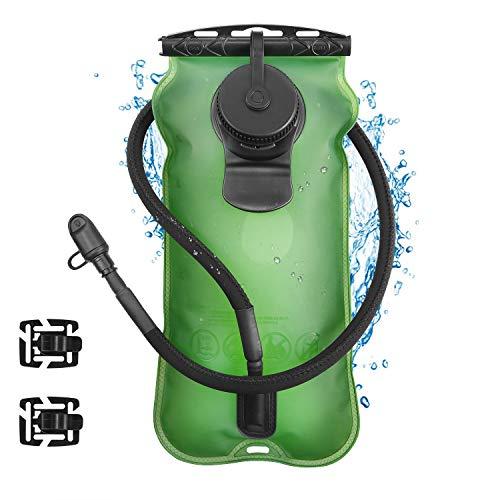 Kuyou Trinkblase 2L (70oz)/3L (106oz) Wasserreservoir Pack mit Schraube Cap 2 Klemme perfekt für Outdoor Radfahren Klettern Wandern Laufen (Type 4)