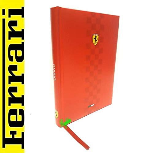 Diario scuola scuderia FERRARI CAVALLINO rosso ITALIA Maranello Vettel tricolore + omaggio portachiave fischietto + omaggio penna glitterata + segnalibro