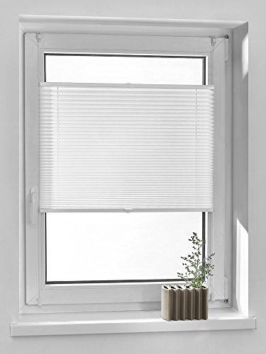 Vidella Plissee comfortino blickdicht Fenstermontage türhoch 69 cm, weiß, PC-1 69b