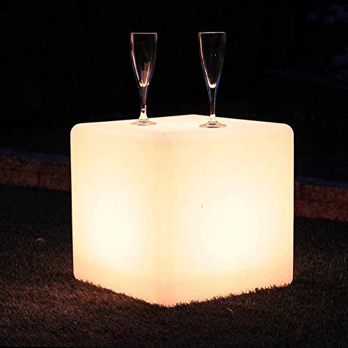 Ygetas Outdoor LED Cube Hocker Stehlampe Wasserdicht Wärme Verhältnis USB-Lade Modern Lichtsitzbank 16 RGB-Farben-4 Modi Mood-Licht mit Fern for Garten, Pool, Party, KTV, Bar (Color : 30 * 30 * 30cm)